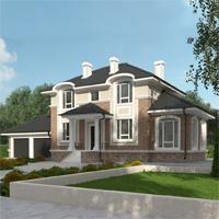 проект дома 76-02 общ. площадь 273,10 м2