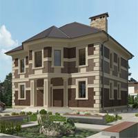 проект дома 20-83 общ. площадь 348,55 м2