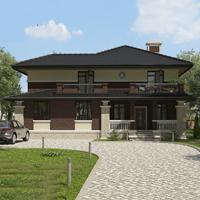проект дома 76-00 общ. площадь 408,55 м2