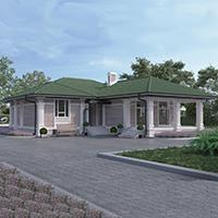 проект дома 28-07 общ. площадь 299,20 м2