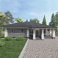 Каталог проекты домов из пеноблоков проект дома 27-09 общ. площадь 146,50м2