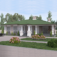 Каталог проекты домов из пеноблоков проект дома 27-14 общ. площадь 169,85 м2
