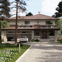 проект дома 76-01 общ. площадь 327,75 м2