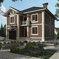 проект дома 76-14 общ. площадь 268,30 м2
