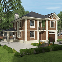 проект дома 76-15 общ. площадь 268,70 м2