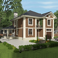 проект дома 76-23 общ. площадь 295,65 м2