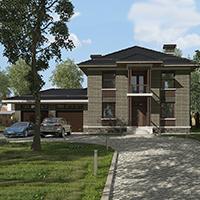 проект дома 76-20 общ. площадь 358,05 м2