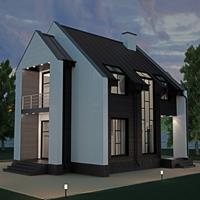проект дома 15-78 общ. площадь 169,91 м2