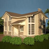 проект дома 15-67 общ. площадь 217,11 м2