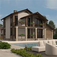 проект дома 16-77 общ. площадь 265,85 м2