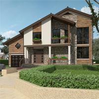 проект дома 14-11 общ. площадь 342,90 м2