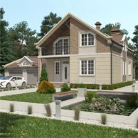 проект дома 16-95 общ. площадь 358,15 м2