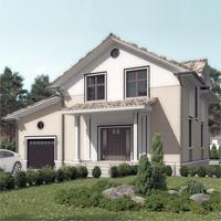 проект дома 15-07 общ. площадь 184,65 м2