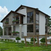 проект дома 15-16 общ. площадь 255,85 м2