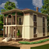 проект дома 14-70 общ. площадь 256,04 м2