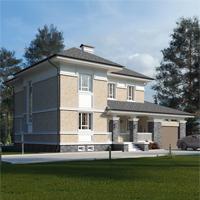 проект дома 17-01 общ. площадь 334,75 м2