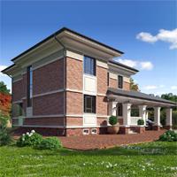 проект дома 17-07 общ. площадь 311,80 м2