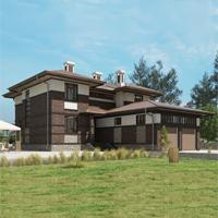 проект дома 17-09 общ. площадь 444,40 м2