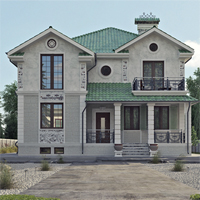 проект дома 14-55 общ. площадь 324,00 м2