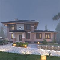 проект дома 14-58 общ. площадь 411,45 м2