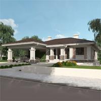 проект дома 08-04 общ. площадь 418,15 м2