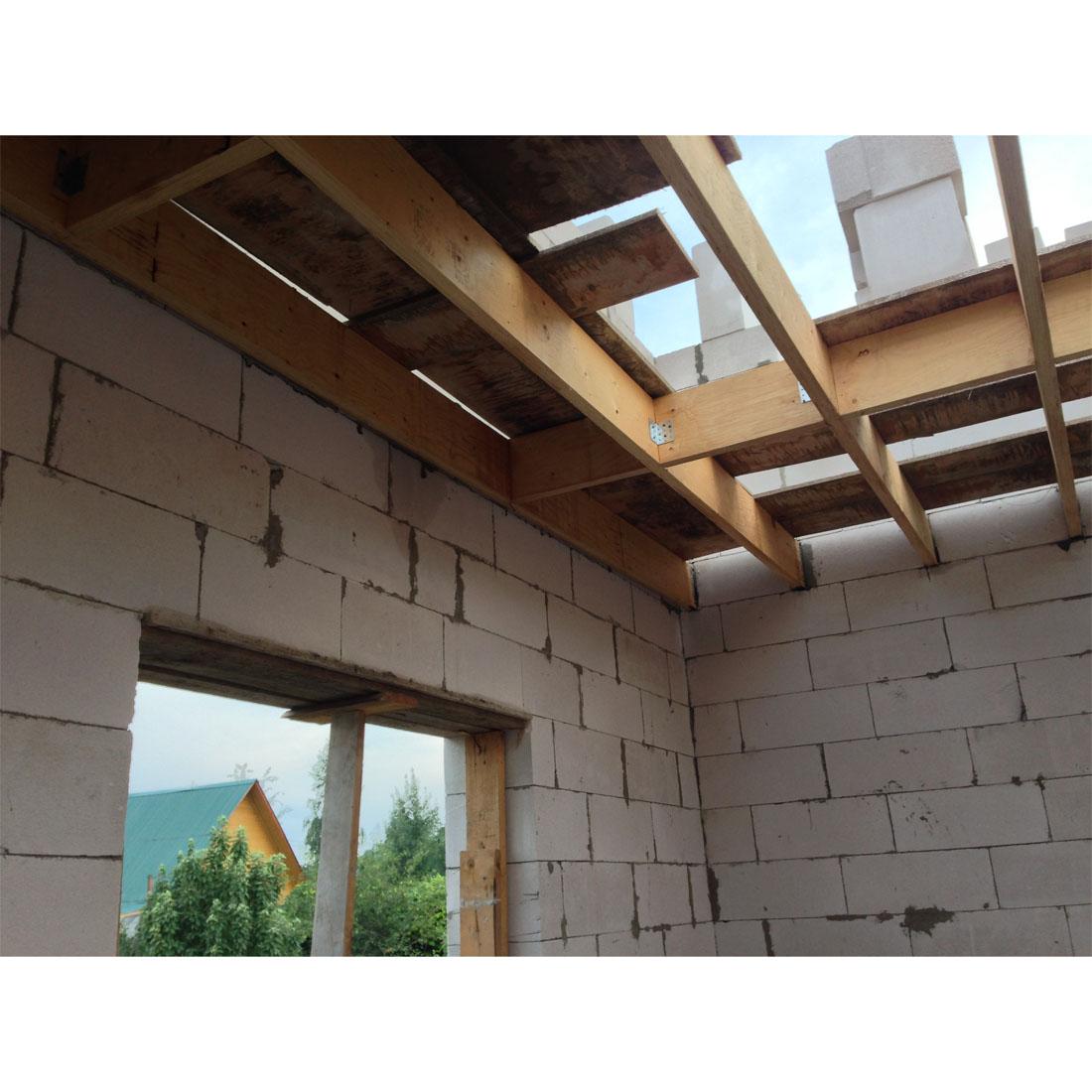 Как сделать потолок на газобетон 290