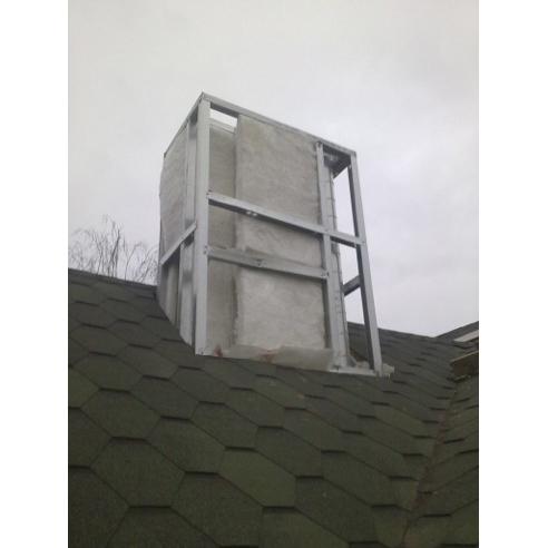 Как сделать короб под трубу на крыше