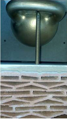 Крепление в керамических блоках ответственных конструкций с помощью химических анкеров