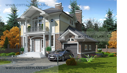 C-148 Проект стометрового двухэтажного дома в классическом